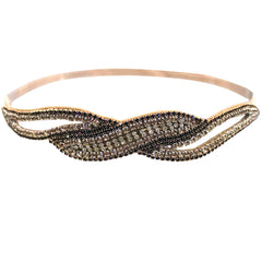 Mia® Embellished Headband – wave cut-out design  - designed by #MiaKaminski of #MiaBeauty #Mia #Beauty #headbands #prettyheadbands