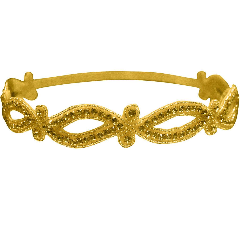 Mia® Embellished Headband – gold swirl design  - designed by #MiaKaminski of #Mia Beauty