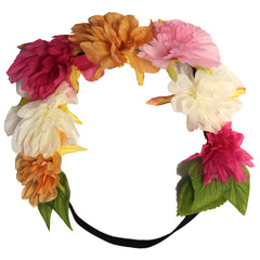 Mia® Flower Halo Headband Hair Accessory - multi-colored large Peonies - by #MiaKaminski #Mia #MiaBeauty #Beauty #Hair #HairAccessories #headbands #lovethis #love #life #woman #flowerhalo #festivals #coachella