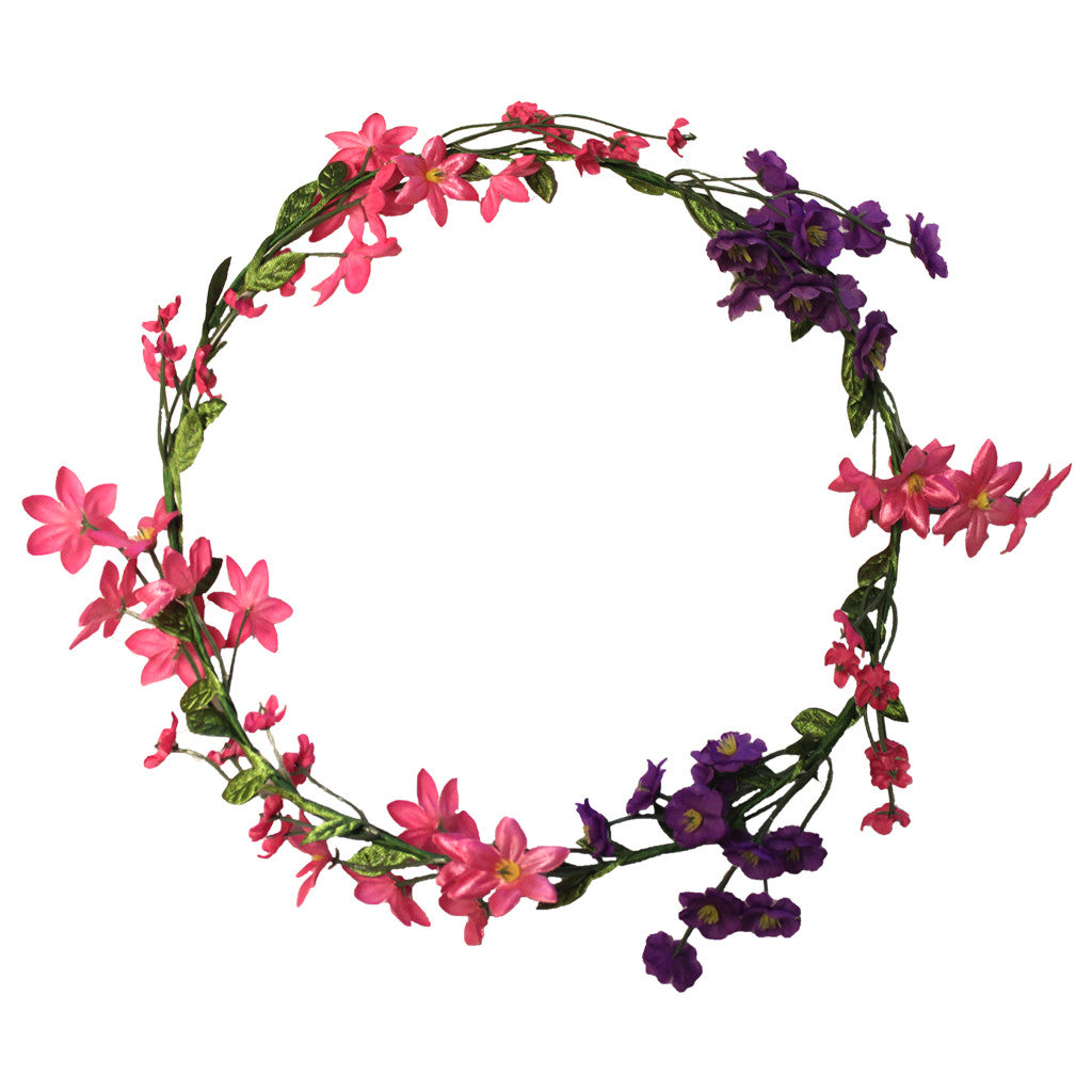 Mia® Flower Halo Headband Hair Accessory - pink and purple wild flowers - by #MiaKaminski #Mia #MiaBeauty #Beauty #Hair #HairAccessories #headbands #lovethis #love #life #woman #flowerhalo #festivals #coachella