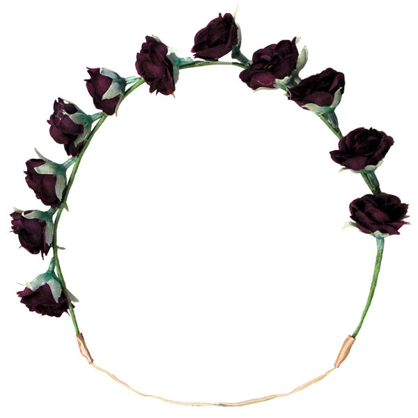 Flower Halo - Dark Purple Rosebuds