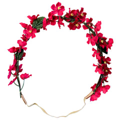 Mia® Flower Halo Headband Hair Accessory - red and purple flowers - by #MiaKaminski #Mia #MiaBeauty #Beauty #Hair #HairAccessories #headbands #lovethis #love #life #woman #flowerhalo #festivals #coachella