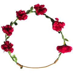 Mia® Flower Halo Headband Hair Accessory - red flowers - by #MiaKaminski #Mia #MiaBeauty #Beauty #Hair #HairAccessories #headbands #lovethis #love #life #woman #flowerhalo #festivals #coachella