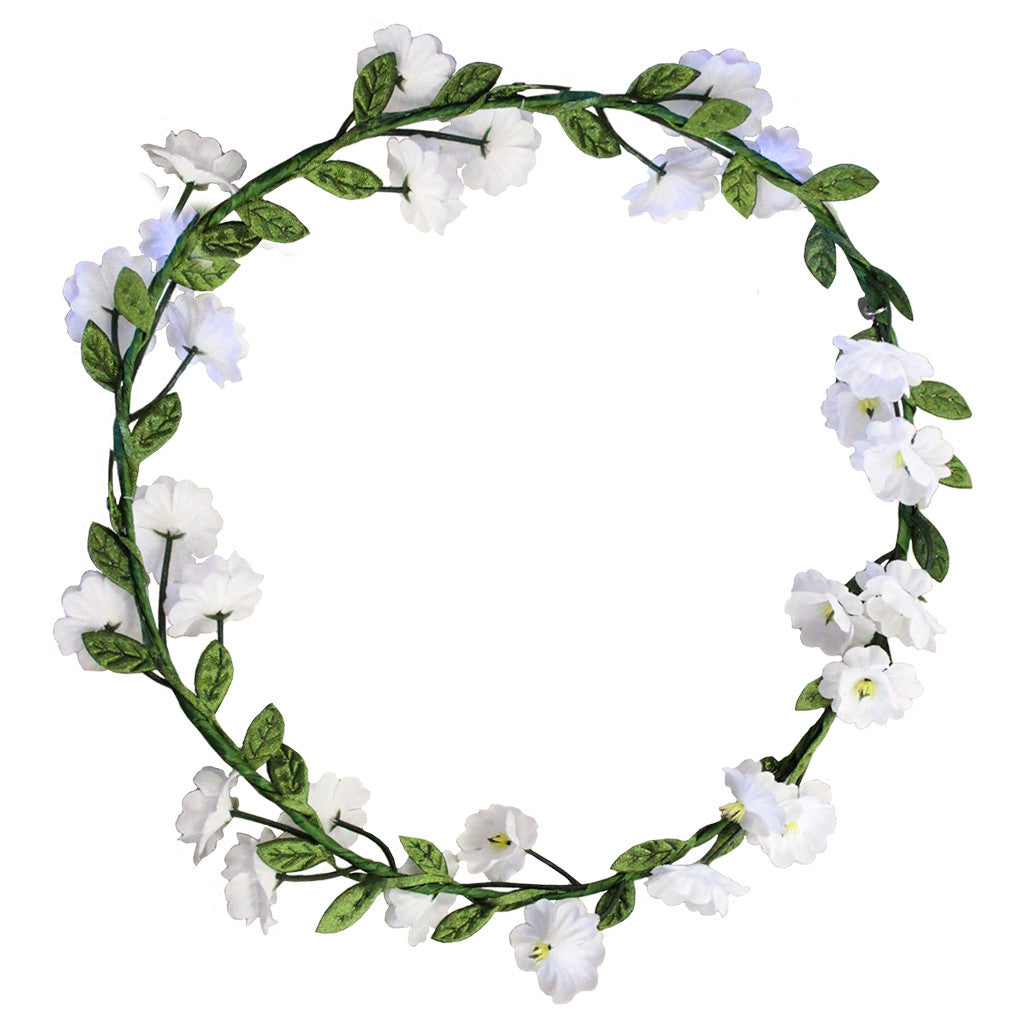 Flower Halos - White Flowers - Mia Beauty