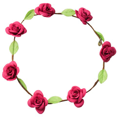 Mia® Flower Halo Headband Hair Accessory - pink roses - by #MiaKaminski #Mia #MiaBeauty #Beauty #Hair #HairAccessories #headbands #lovethis #love #life #woman #flowerhalo #festivals #coachella