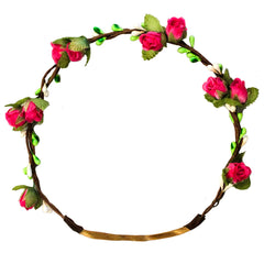 Mia® Flower Halo Headband Hair Accessory - pink rose buds - by #MiaKaminski #Mia #MiaBeauty #Beauty #Hair #HairAccessories #headbands #lovethis #love #life #woman #flowerhalo #festivals #coachella