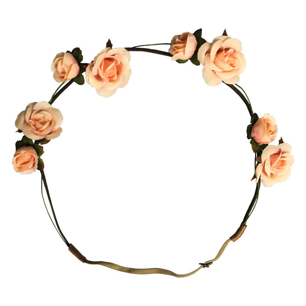 Flower Halo - Peach Roses