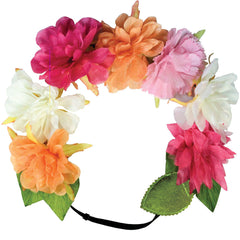 Mia® Flashion Flower Light Up Headband - large Peonies with white lights - by #MiaKaminski #Mia #MiaBeauty #Beauty #Hair #HairAccessories #headbands #lovethis #love #life #woman #flowerhalo #LEDlightedheadband #festivals #coachella #AsSeenOnTV