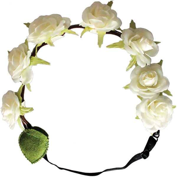 Flashion Flowers™ - White Roses + White Lights