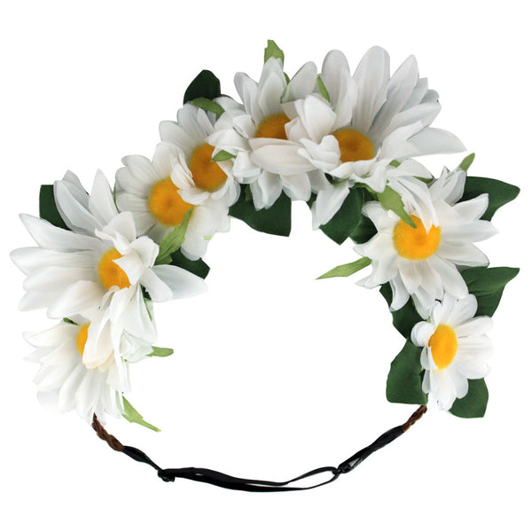 Flower Halos - White Daisy - NEW