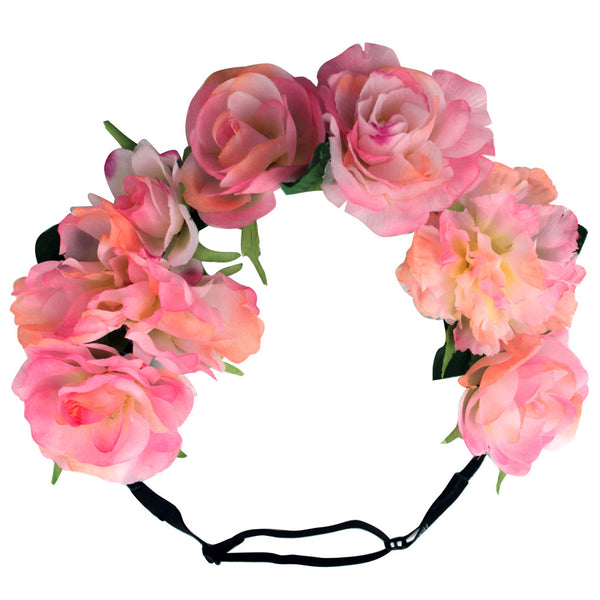 Flower Halos - Pink Ombre Peony Mix - NEW
