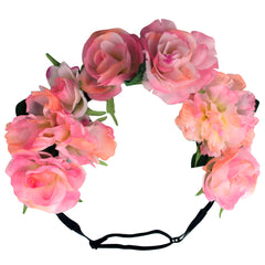 Flower Halos - Pink Ombre Peony Mix - NEW - Mia Beauty