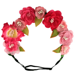 Mia® Flower Halo Headband Hair Accessory - pink flowers - by #MiaKaminski #Mia #MiaBeauty #Beauty #Hair #HairAccessories #headbands #lovethis #love #life #woman #flowerhalo #festivals #coachella