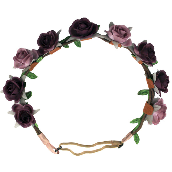 Flower Halos - Ombre Pink to Purple Flowers