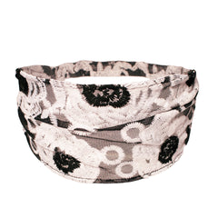 Mia® Lace Headwrap - black with white flowers design - #MiaKaminski #Mia #MiaBeauty #Beauty #Hair #HairAccessories #headbands #headwraps #laceHeadbands #laceHeadwraps #lovethis #love #life