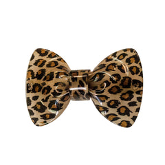 Leopard Bow Barrette - Mia Beauty