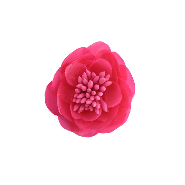 Small Flower Clip and Pin - Neon Pink