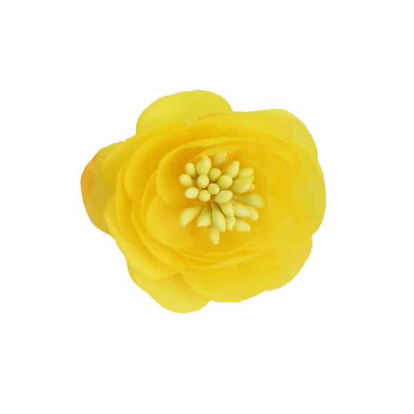Flower Clip + Pin - Yellow