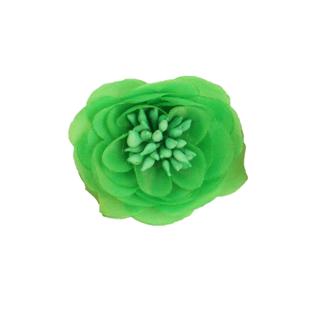 Mia® Small Flower Clip and Pin - Neon Green - #MiaKaminski #Mia #MiaBeauty #Beauty #Hair #HairAccessories #barrettes #hairclips ##lovethis #love #life #flowers #hairflowers