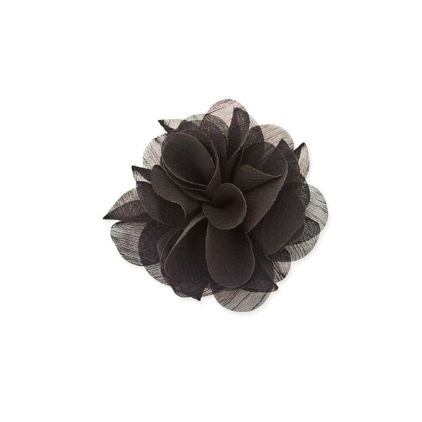 Flower Clip and Pin - Black