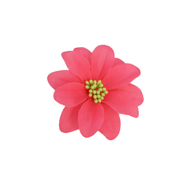 Flower Clip/Pin - Neon Pink Flower
