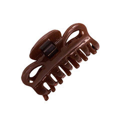 Mia® Snap Clamp™ - metal-free super strong jaw clamp - brown - designed by #MiaKaminski of #MiaBeauty #HairJawClamp #HairAccessories