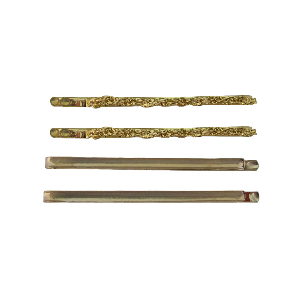 Mia® Bobby Pins - gold chain 4 pieces - #Mia Kaminski of Mia Beauty