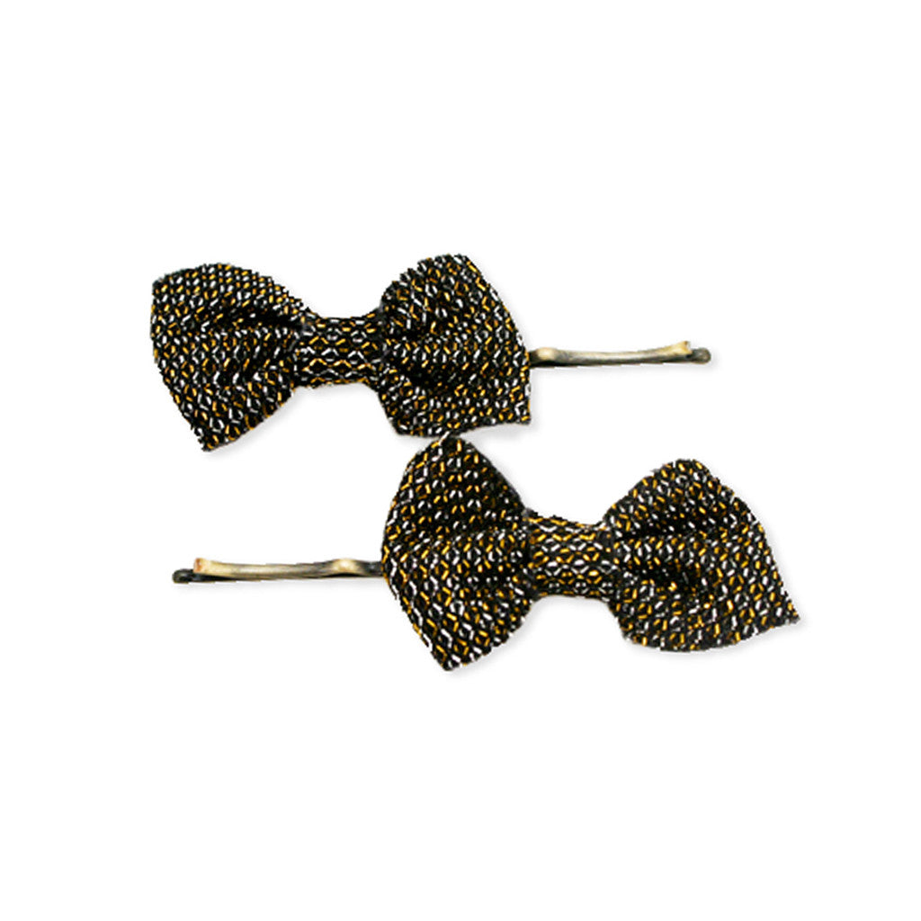 Mia® Bobby Pins - metallic mesh bows 2 pieces - #Mia Kaminski of Mia Beauty