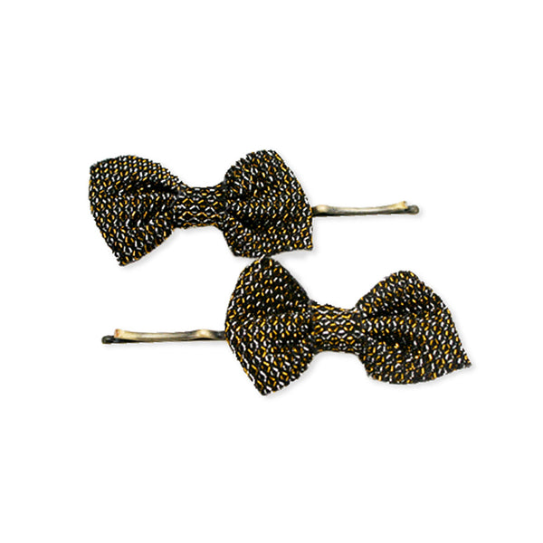 Bobby Pins With Bows - Bronze