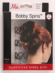 Mia® Bobby Spins® - Brown color - in packaging - Mia Beauty - #MiaKaminski