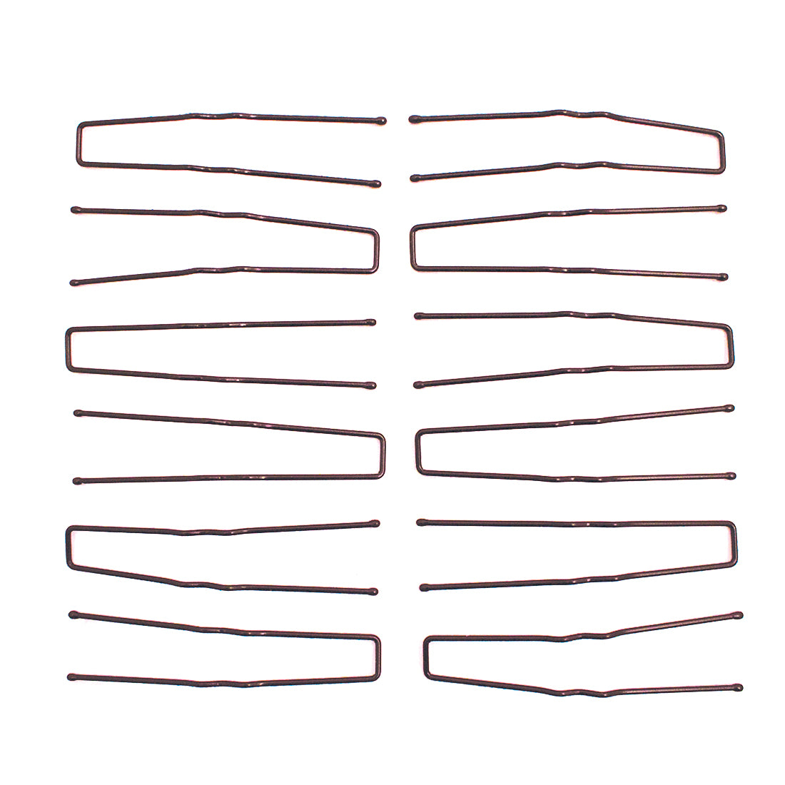 Mia® SqHair Pins - brown color - 12 pieces - designed by #Mia Kaminski of Mia Beauty