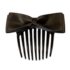 Hair Comb - Leather Bow - Mia Beauty