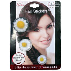 Hair Stickers® - White Daisies - Mia Beauty - 2