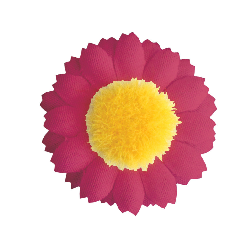 Hair Stickers® - Hot Pink Daisies - Mia Beauty - invented by #MiaKaminski of #MiaBeauty