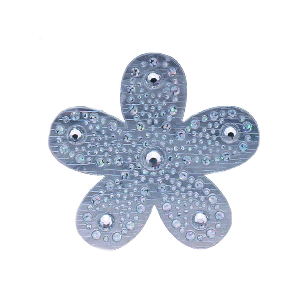 Mia Hair Stickers® - mini Silver Flowers - #MiaKaminski of Mia Beauty