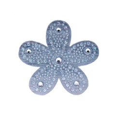 Mia Hair Stickers® - large Silver Flower - #MiaMinnelli of Mia Beauty - 1