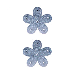 Mia Hair Stickers® - small Silver Flowers - #Mia of Mia Beauty