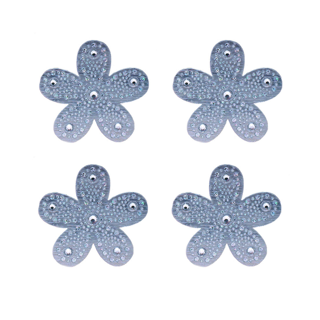 Hair Stickers® - Silver Flowers - Mia Beauty - 1