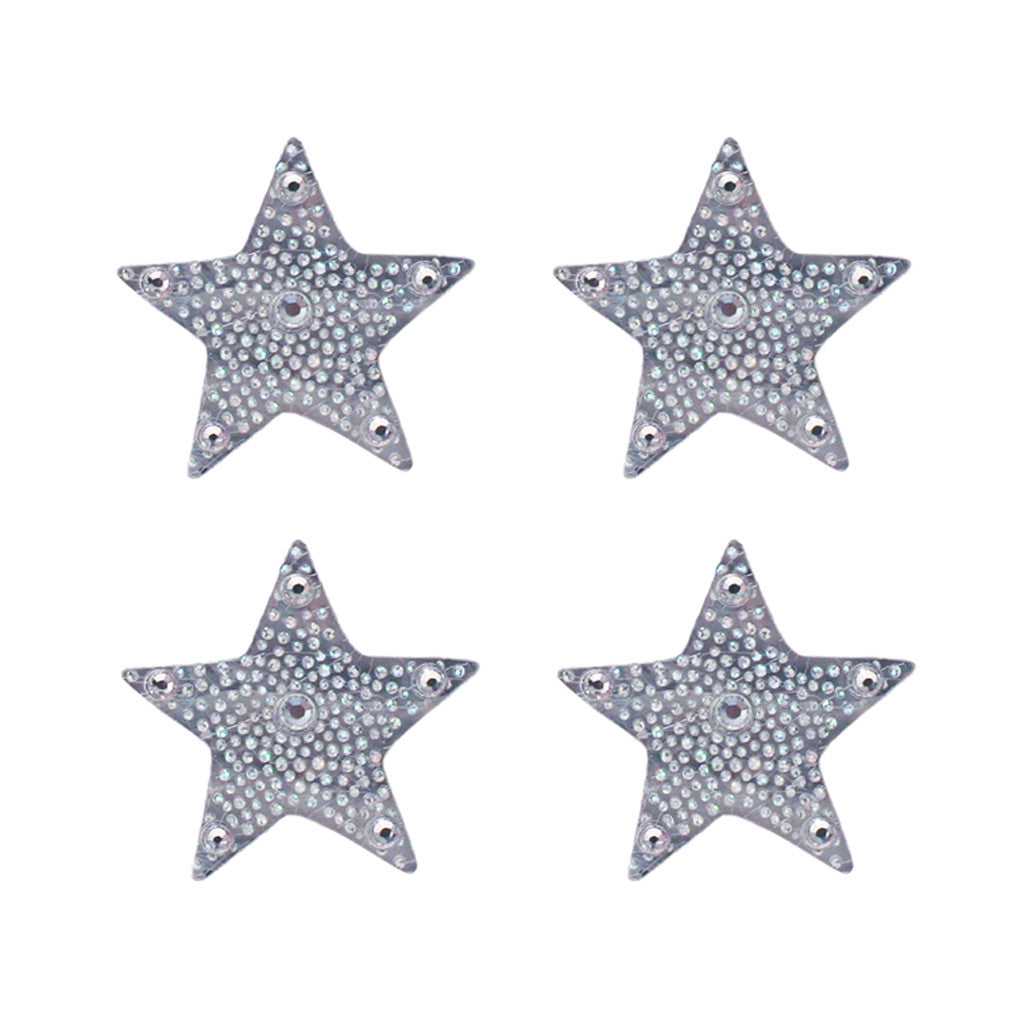 Mia Hair Sticker® - large Silver Star - invented by #MiaKamiski of Mia Beauty