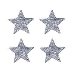 Mia Hair Stickers® - mini Silver Stars - invented by #MiaKaminski of Mia Beauty - 2