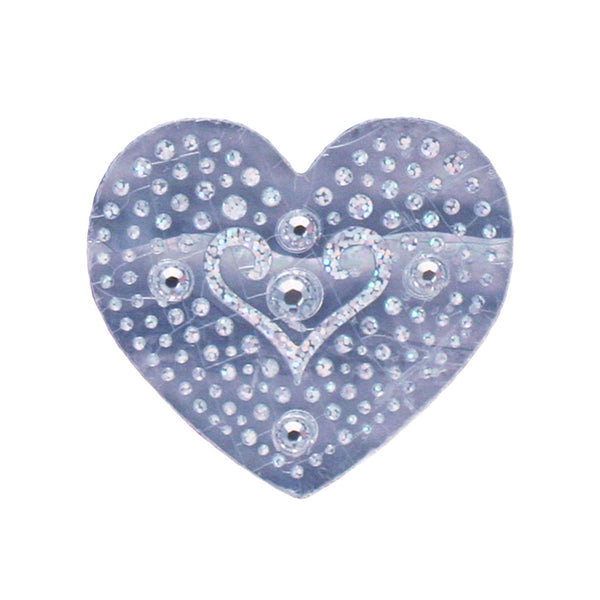 Hair Stickers® - Silver Hearts