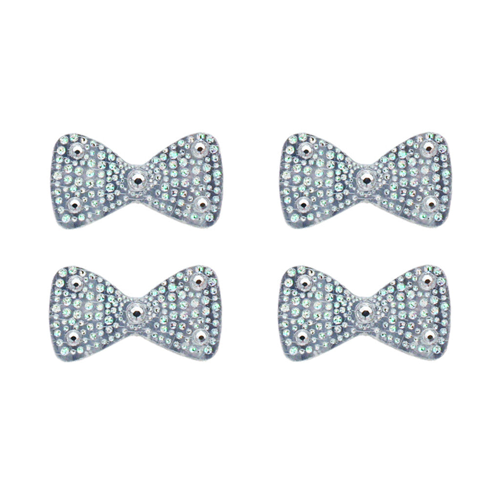 Hair Stickers® - Silver Bows - Mia Beauty - 1