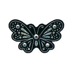 Mia® Hair Stickers® - Black Butterfly - black color - invented by #MiaKaminski of Mia Beauty