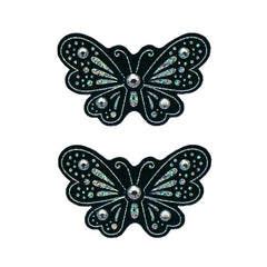 Mia® Hair Stickers® - small Black Butterflies - black color - invented by #MiaKaminski of Mia Beauty