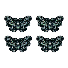 Mia® Hair Stickers® - mini Black Butterflies - black color - invented by #MiaKaminski of Mia Beauty