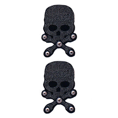 Mia® Hair Stickers® - small Black Skull with Crossbones - Mia Beauty - #MiaKaminski