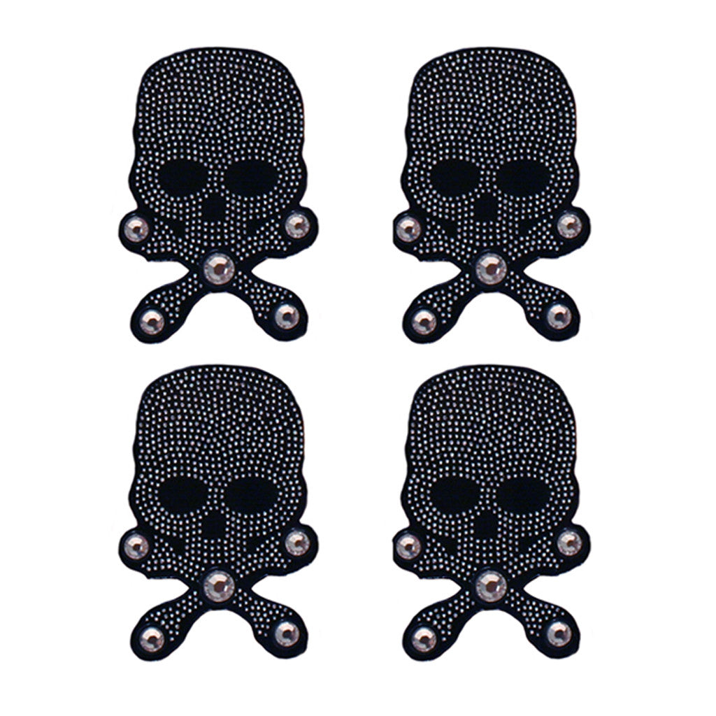 Mia® Hair Stickers® - mini Black Skull with Crossbones - Mia Beauty - #MiaKaminski