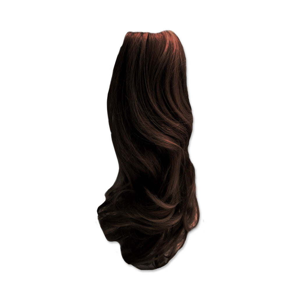 Mia® Clip-n-Pony® - Dark Brown color - designed by #MiaKaminski of #MiaBeauty