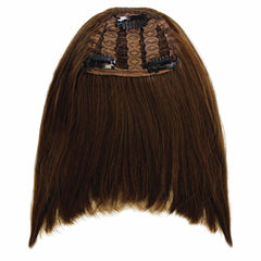 Mia® Clip-n-Bangs® - Medium Brown color - designed by #MiaKaminski of #MiaBeauty