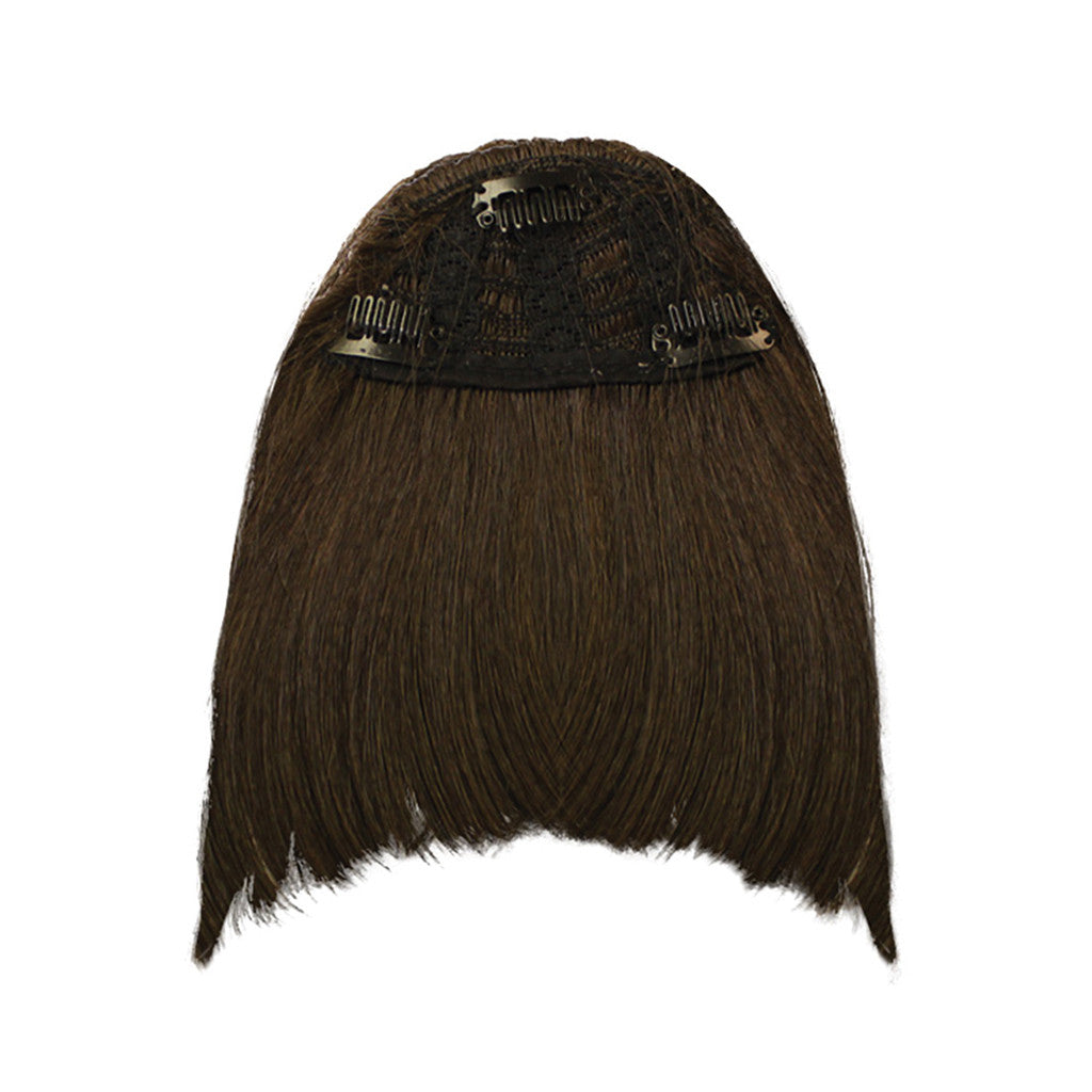 Mia® Clip-n-Bangs® - Dark Brown color - designed by #MiaKaminski of #MiaBeauty